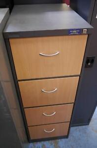 Ex Display Hi Brid Coform Filing Cabinet Grey Metal Beech Drawers