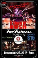 Rush and foo fighters celebration of their music December 23