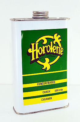 Horolene Ammoniated Concentrated Clock Cleaner Solution 500ml can