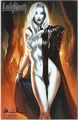 Lady Death Dark Millennium 1. Naughty Edition. NYCC. Ltd 7/99.  EBas Cover.