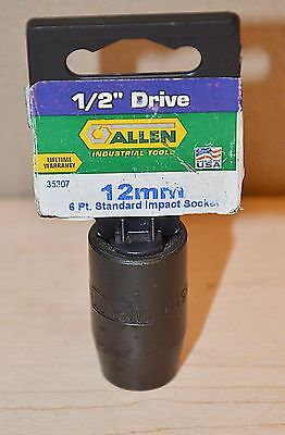 Allen Made in USA 12 mm Metric 1/2