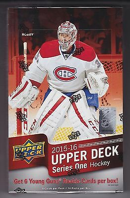 2015-16 Upper Deck Series 1 Hockey sealed unopened hobby box 24 packs of 8 cards