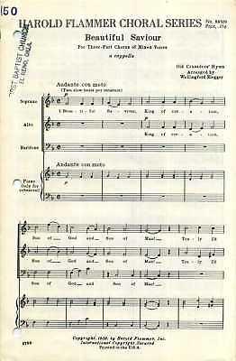 Beautiful Saviour SAB Sheet Music Acappella with Piano Accompaniment Old Crusade