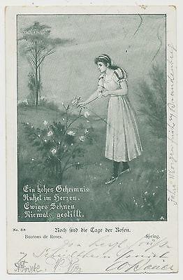 AK  Noch sind die Tage der Rosen-Poststempel Berlin und Steglitz (N614)