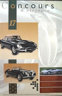 Jaguar XK120 XJ220 XKE Cincinnati Ault Park Concours d' Elegance Print Poster SS, used for sale  Shipping to Canada