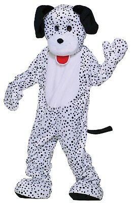ADULT PLUSH DALMATION DOG COMPLETE MASCOT COSTUME