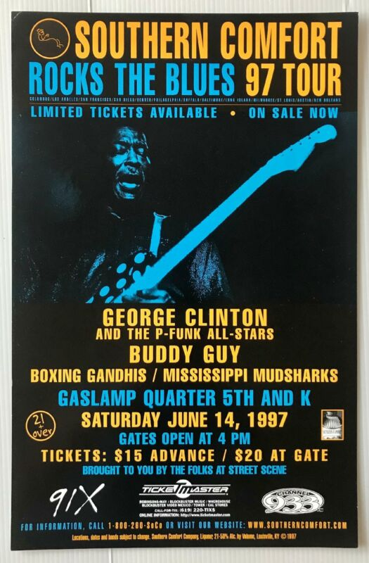 Buddy Guy Concert Poster San Diego 1997