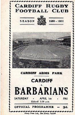 Apr 61 CARDIFF v BARBARIANS