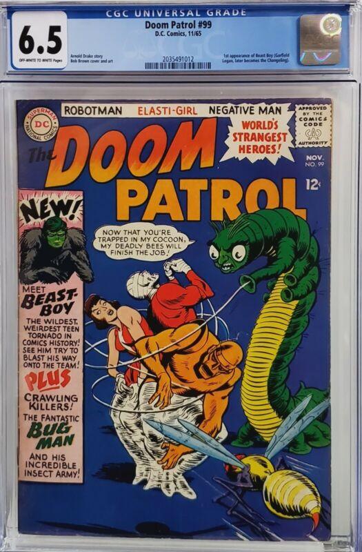 DOOM PATROL #99 CGC 6.5 1ST BEAST BOY