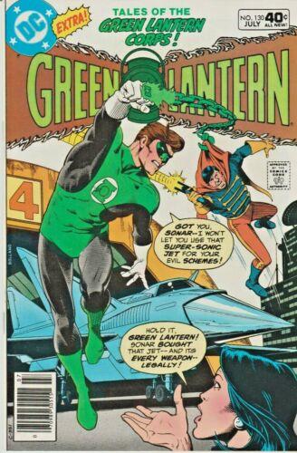GREEN LANTERN #130  SONAR * TALES OF THE GREEN LANTERN CORPS  DC  1980  NICE!!!