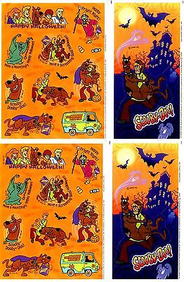4 Sheets SCOOBY DOO Spooky Scary Halloween Mystery Machine Scrapbook Stickers!](Scary Machines)