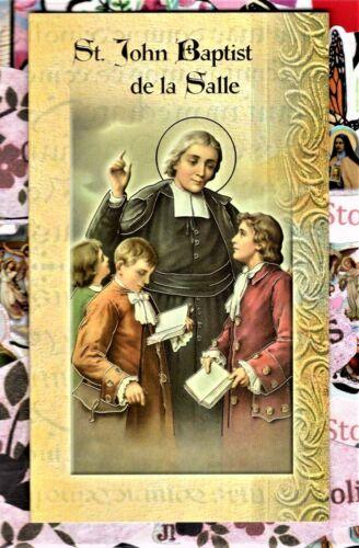 Saint John Baptist de la Salle - Prayer, Feast Day, etc... Folder Card