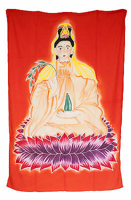 Batik of Guanyin Hanging Wall Tibetan Cotton Handmade 171x112cm 54406 U