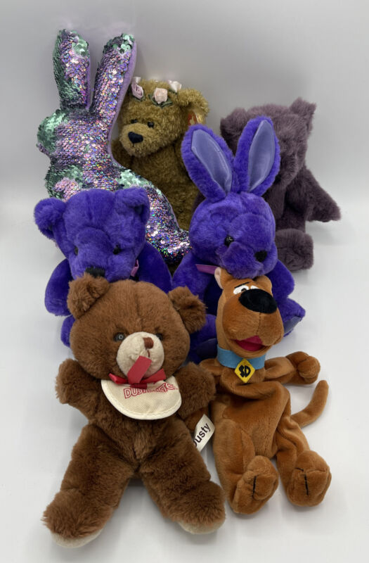 Stuff Animals Mixed Lot of 7 Assorted Mix 002