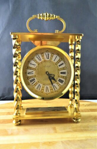 BUCHERER SWISS TABLE CLOCK WITH 8 DAYS MOVEMENT AND STRIKING FUNCTION, 1960'S