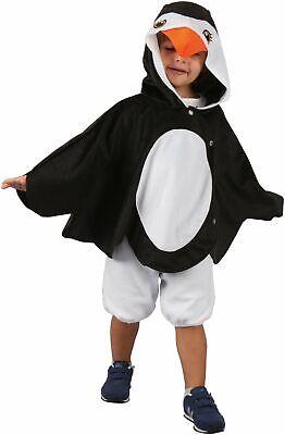 Kinder Tunika schwarz-weiss Cod.320891 (Pinguin Kostüm Kinder)
