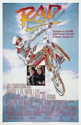 Rad  Movie Poster 1987 Bmx 80S Motorcross