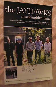 The-JAYHAWKS-MOCKINGBIRD-TIME-2011-AUTOGRAPHED-POSTER-signed-by-FOUR-MINT