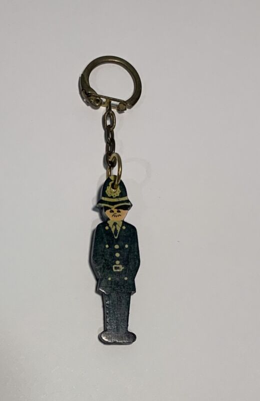 Vintage British Bobby Police Officer Keychain