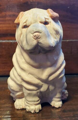Cute Ceramic Shar-Pei Puppy Dog Figure Figurine Statue ONE OF A KIND Gift