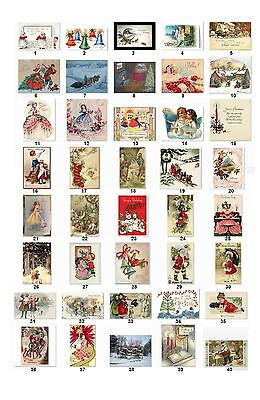 30 Personalized Return Address Vintage Christmas Labels Buy 3 Get 1 Free Cs2