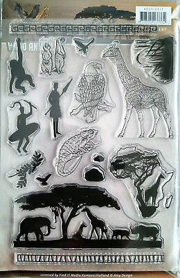 Wild Animals Africa Safari Giraffe Tree Clear Stamp Find It Trading Amy Design