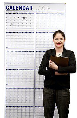 Annual Wall Calendar Large Vertical Dry Erase Event Calendar 36x72