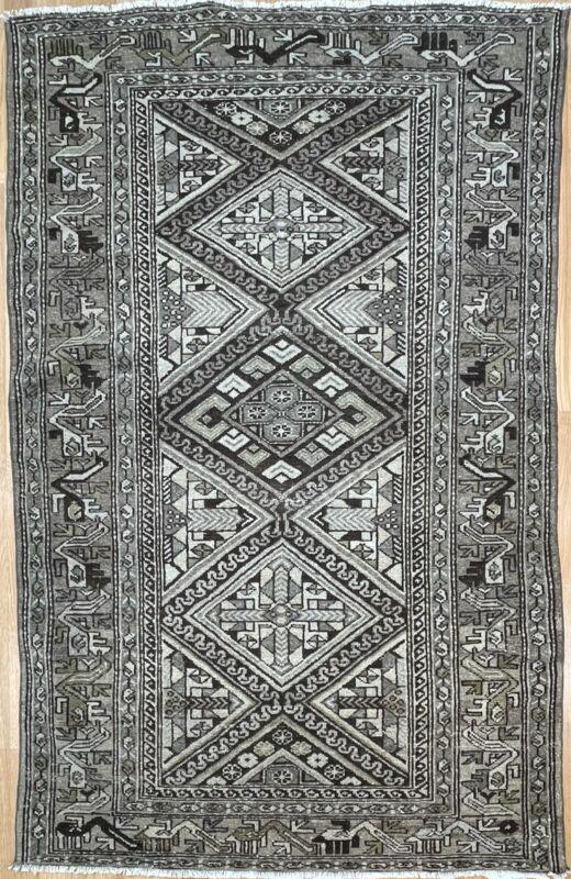Tremendous Tribal - Antique Oriental Rug - Nomadic Runner - 4.1 X 6.6 Ft.