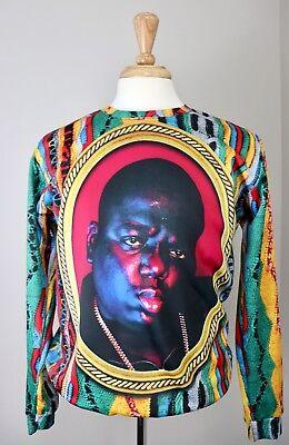 Biggie Smalls Notorious BIG 1990s Fashion Long Sleeve Shirt XL (B)