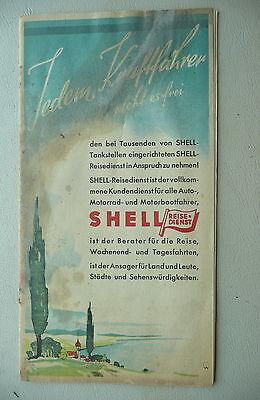 1930's map brochure Germany Deutschland  Shell gas oil Stadtkarte #12 map lists