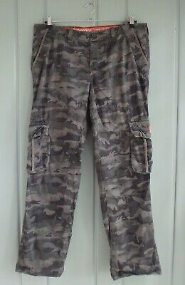 Superdry Core Lite Cargo Camo Pants Mens 2XL XXL Camouflage Green Military 39x33