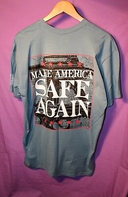 NEW Buckwear Shirt Make America Safe Again Freedom Gun Flag T-shirt Size M Men's