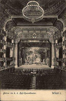 Wien I alte Ansichtskarte ~1910 Blick auf die Bühne im k. k. Hof Opern Theater
