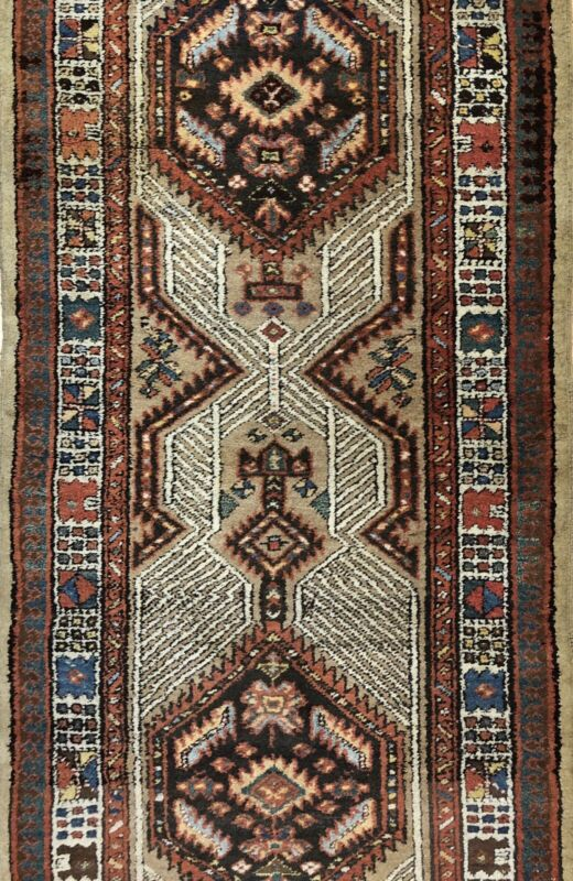 Tremendous Tribal - 1900s Antique Oriental Runner - Camel Hair Rug - 3 X 10 Ft.