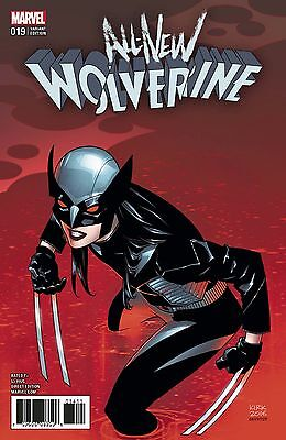 ALL NEW WOLVERINE #19 KIRK VARIANT 1:25 Marvel NOW Comics NM Presale 4/5/2017