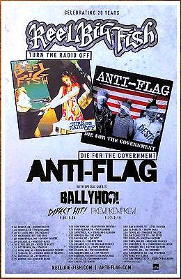 REEL BIG FISH ANTI-FLAG Tour 2017 Ltd Ed RARE New Poster +FREE Punk Rock Poster