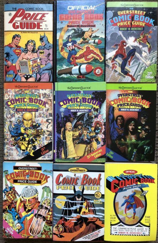 Overstreet Comic Book Price Guide 9 Volume Lot # 13 21 22 24 25 26 28 31 32