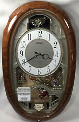 Seiko Melodies In Motion Clock 12 Melodies Christmas Disney Beatles QXM146BR