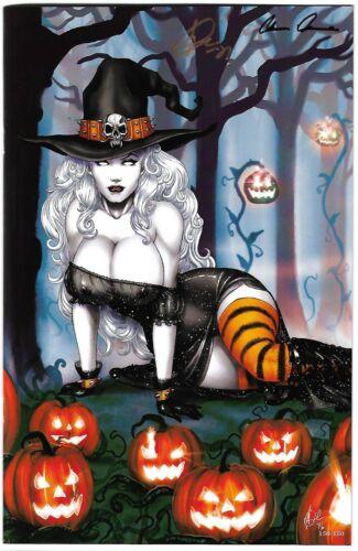 Lady Death All Hallows Evil 1. Witch Virgin Art Edition. Harrigan Celebration.