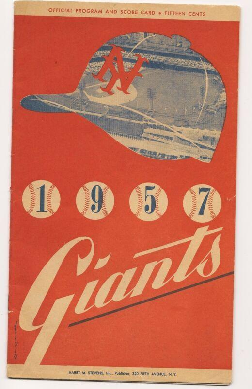 1957 New York Giants-Pirates Program Giants Penultimate NY Game NICE!!