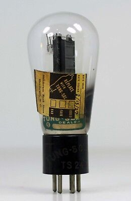 Vintage Tung Sol 247 Balloon Power Amplifier Tube Black Plate Etched Base 2100Uf