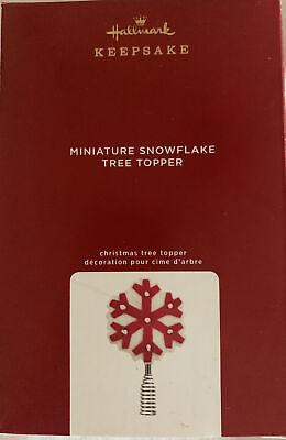 2020 Miniature Felt Snowflake Tree Topper Hallmark Keepsake Wool New