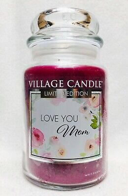 1 Village Candle LOVE YOU MOM Large 2-Wick Classic Jar Candle 21.25 - 1 Mom Jar Candle