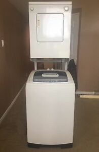 GE WASHER, WHIRLPOOL DRYER & STAND ALL FOR $450