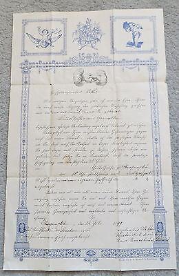 alte Ladung zur Hochzeit v. 1899 in Obergangkofen bei Landshut -echtes Zeitdoku-