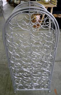 New Silver Wire 35 Wine Bottle Rack Holder Storage Cage Unit