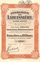 Fonderies De Labuissiere Sa, Accion, 1928 (siege: Labuissiere) -  - ebay.es