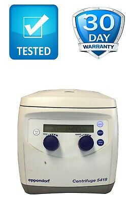 Eppendorf 5418 Centrifuge With Fa-45-18-11 Rotor No Lid Tested Working Video