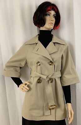 NWOT Michael Kors Double-Breasted & Belted Khaki Color Spring Trench Coat, Sz (Michael Michael Kors Double Breasted Trench Coat)