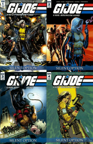 IDW COMICS - GI JOE SILENT OPTION 1 2 3 4 - 1ST PRINTS - BRAND NEW - LARRY HAMA